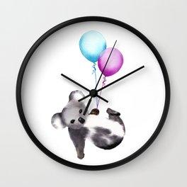 Koala With Baloons Wall Clock