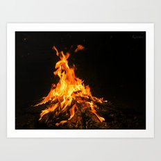Bonfire (lohri) Art Print