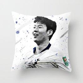 Son Heung-min Football Print Football Wall Art Football Poster Football Wall Decor Poster Throw Pillow