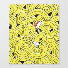 Pencil Pup Canvas Print