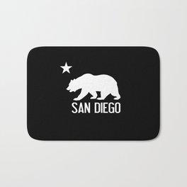 San Diego and California Bear Bath Mat