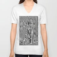 moschino V-neck T-shirts featuring obsessed moschino by Claudio Velázquez