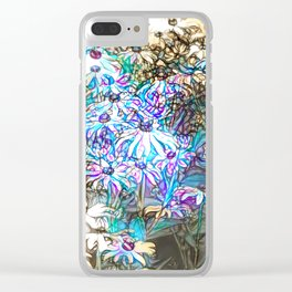Field of Dainty Flowers Clear iPhone Case