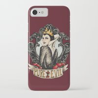 evil queen iPhone & iPod Cases featuring Evil Queen by Juu Monteiro