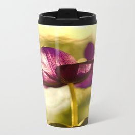 Glowing Purple Flower #decor #buyart #society6 Travel Mug
