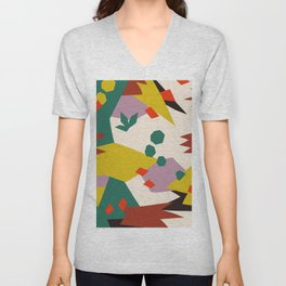 Abstract Tropical Pattern #society6 Unisex V-Neck