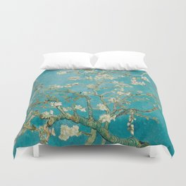 Vincent Van Gogh's Branches of an Almond Tree in Blossom Duvet Cover