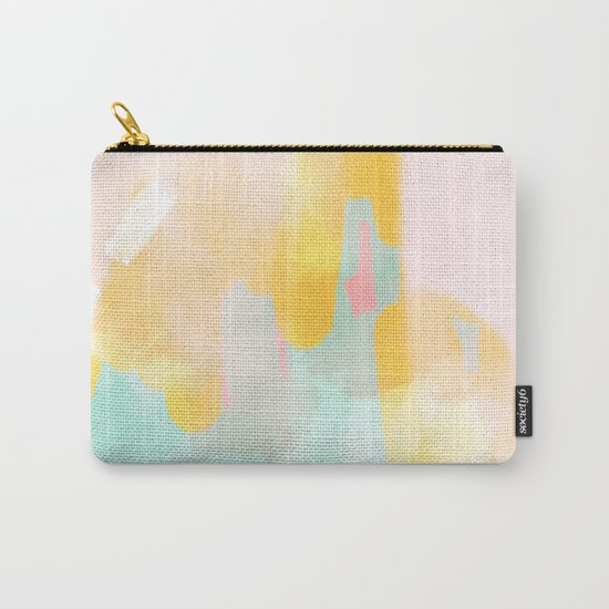 Soft Pastel summer abstract Carry-All Pouch