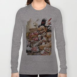 cowboy and native american Long Sleeve T-shirt