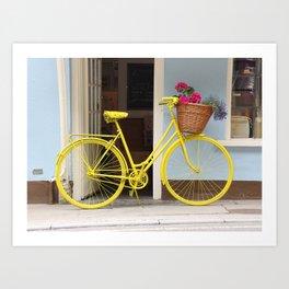 Bicycle in Yellow Art Print