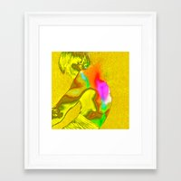 stay gold Framed Art Prints featuring stay gold by Robert Alan