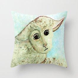 Just One Little Lamb Throw Pillow