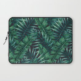 Palm and Banana Leaf Tropical Pattern Laptop Sleeve
