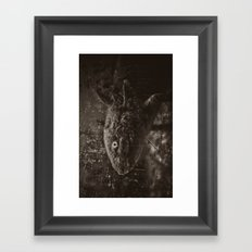 Axolotl Horst grey Framed Art Print