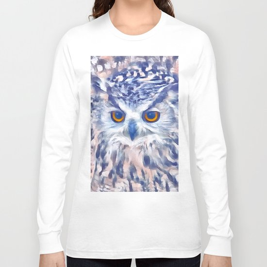 Fluffy owl Long Sleeve T-shirt