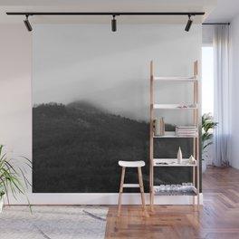 Foggy Mountains Wall Mural
