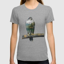 Hawk Double Exposure T-shirt