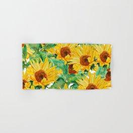 sunflower pattern Hand & Bath Towel