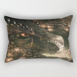 Little Girl and Her Dragon Rectangular Pillow