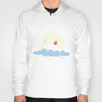 selena gomez Hoodies featuring Gomez Sleeping on a Cloud by Paul Scott (Dracula is Still a Threat)