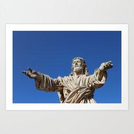 Christ the Redeemer statue Art Print