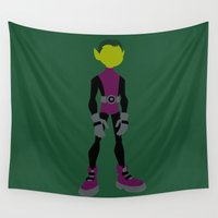 beast Wall Tapestries featuring Beast Boy by karla estrada