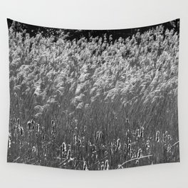 Reed flower fluttering in the wind Wall Tapestry