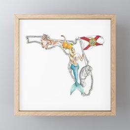 Florida Mermaid Framed Mini Art Print