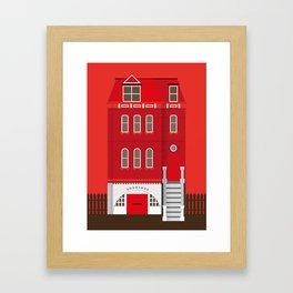 Red House Framed Art Print