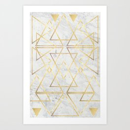 wire gOld triangle Art Print