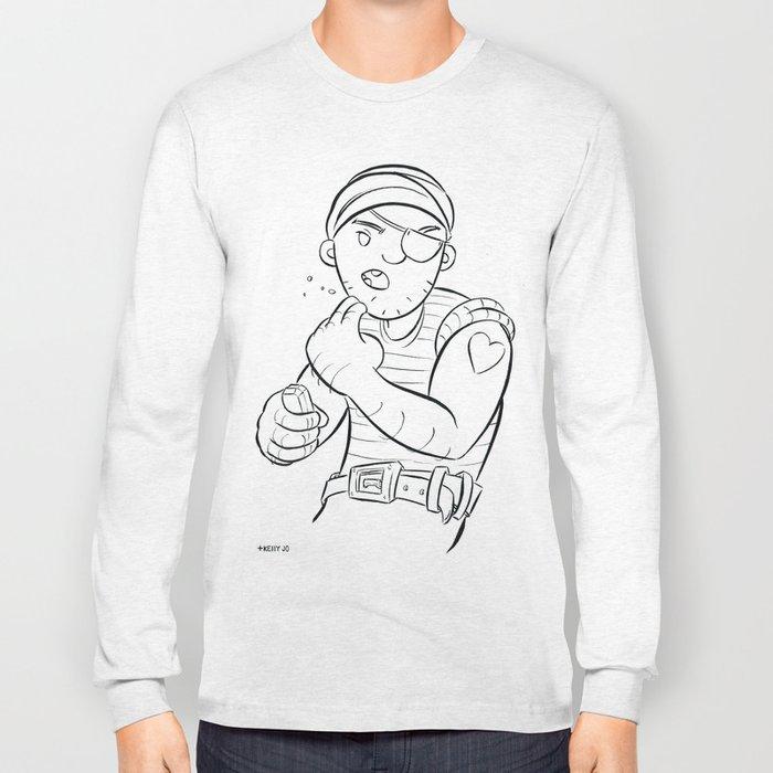 Stowaway Pirate - ink Long Sleeve T-shirt