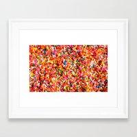 sprinkles Framed Art Prints featuring Sprinkles! by MartiniWithATwist