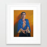 frida khalo Framed Art Prints featuring Frida Khalo by RuizGallery