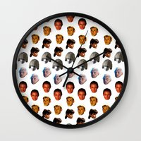 blade runner Wall Clocks featuring BLADE RUNNER by brucetimms