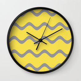 Soft Rippled Horizontal Line Pattern V2 Wall Clock