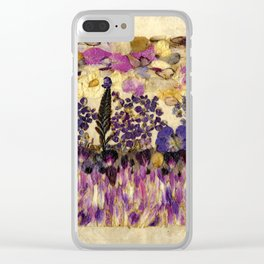 Petals As Paint - Purple Passion Clear iPhone Case