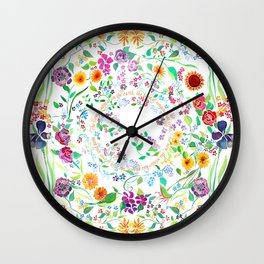 Flowers Appear on Earth - English Wall Clock