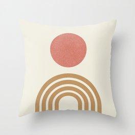Mid century modern pink Throw Pillow
