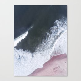 I love the sea - heart and soul Canvas Print