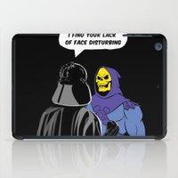 skeletor iPad Cases featuring Vader Skeletor I Find your lack of face disturbing  by Jane Hazlewood
