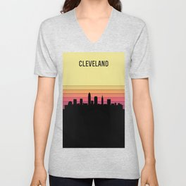 Cleveland Skyline Unisex V-Neck