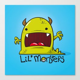 Lil' Monster Green Canvas Print