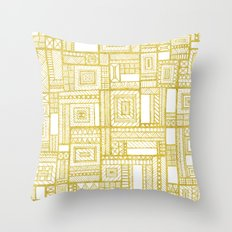 Golden Doodle patchwork Throw Pillow