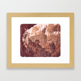 The Steam in the Willows Framed Art Print
