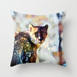 Your Cheetah Eyes Throw Pillow