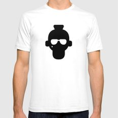 Travis White SMALL Mens Fitted Tee