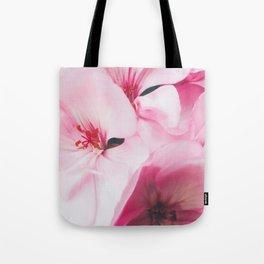 Pastel Pink Petal Flowers Tote Bag