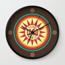 Pinball Points Wall Clock