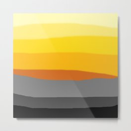 Lemon Sunset Metal Print