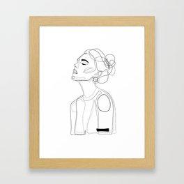 B Yellow Lip Framed Art Print